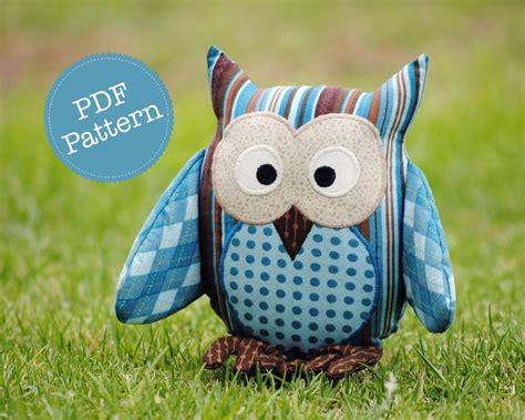 free pattern owl cushion owl softie pattern pdf sewing pattern for owl softie