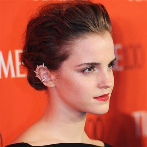 emma watson ear piercing the rise of multiple ear piercings