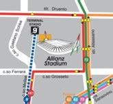 juventus stadium mappa ingressi come raggiungere gli stadi con i mezzi pubblici