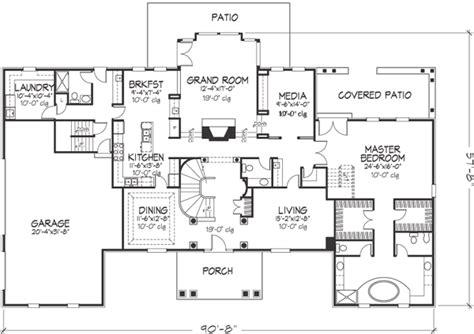 southern colonial style house plans southern colonial style house plans 4530 square foot home 2 story 5 bedroom and 5