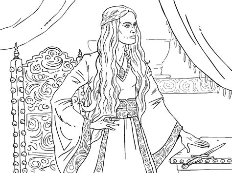 of thrones coloring pages of thrones colouring in page cersei colouring in