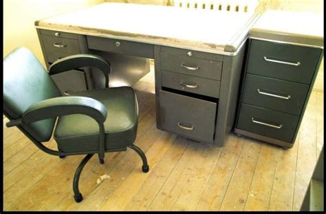 steel tanker desk for sale retro office suite steel tanker desk chair cabinet for