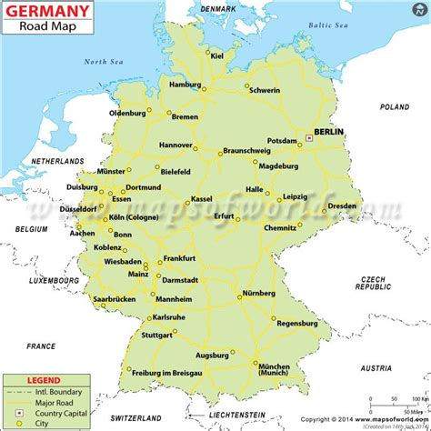 map of german routes germany road map travel route planner