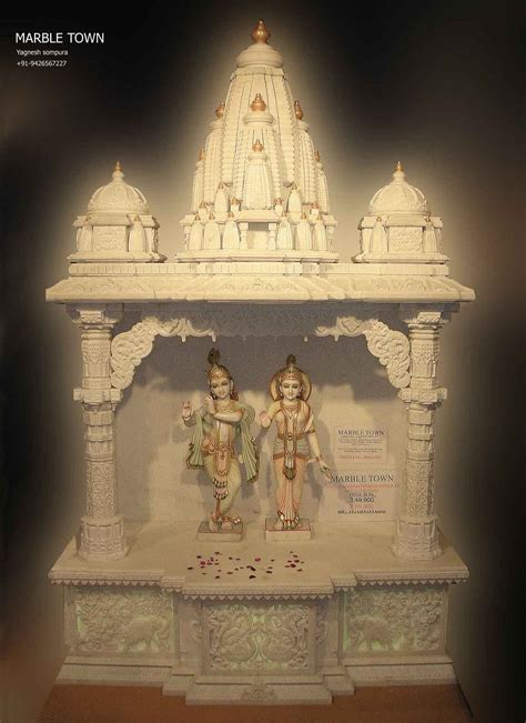 marble temple home decoration home temple r5 manufacturers in ambaji india by krishna