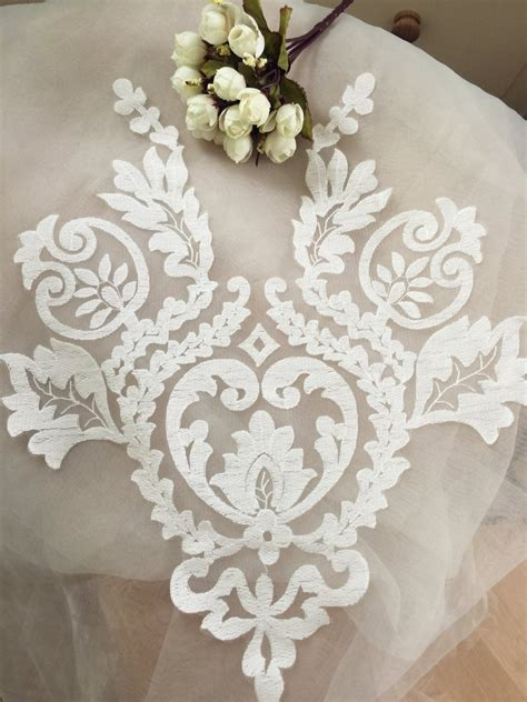 lace applique graceful ivory wedding lace applique bridal lace applique for