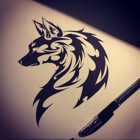 tribal wolf tattoos art 25 best ideas about tribal wolf tattoos on