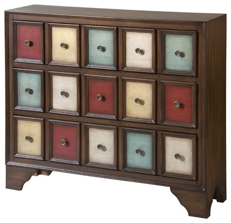 multi colored drawer dresser brody multicolored wood 3 drawer accent chest