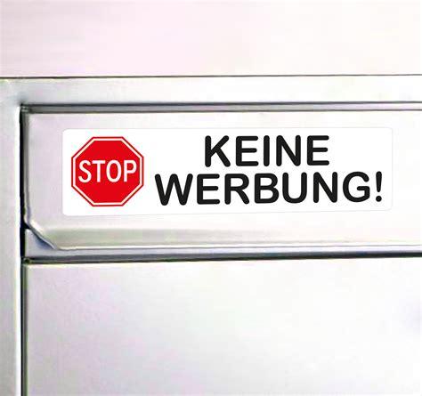 Werbung Aufkleber by Bitte Keine Werbung Aufkleber Reklame Stop Schild F 252 R