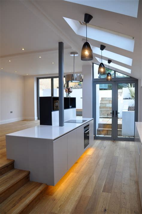 renovated semi detached house complete renovation of semi detached house london contemporary kitchen london