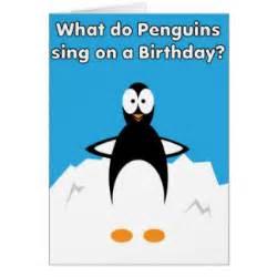 penguin jokes cards zazzle