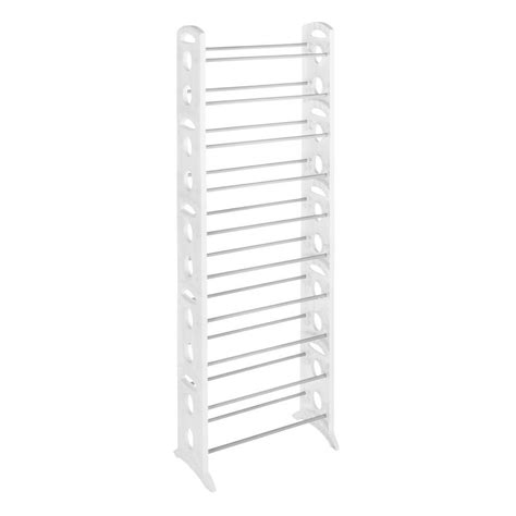 whitmor shoe rack collection 22 5 in x 62 25 in 30 pair