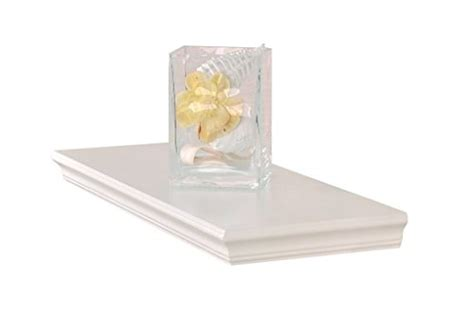 18 Inch White Floating Shelf by Welland Dover Floating Ledge Wall Shelves 18 Inch White