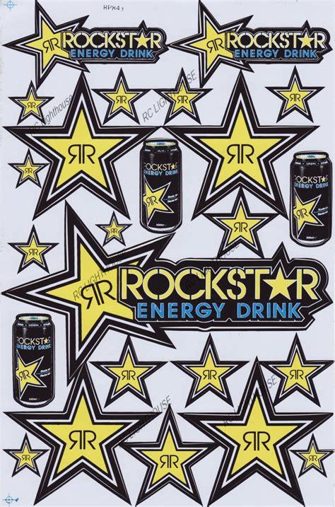 Boat Awning Rockstar Energy Drink Sticker Sheet D 303 Rc Lighthouse