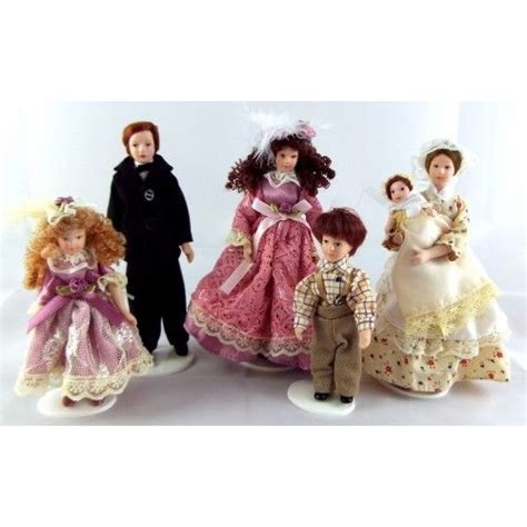 victorian dolls house figures doll house miniatures family of 6 and doll houses on pinterest