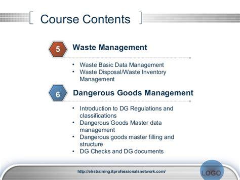 industrial hygiene report template sap ehs ehs sap ehs course