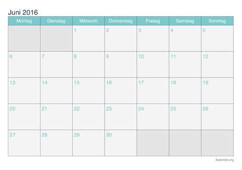 Juni Kalender 2016 Kalender Juni 2016 Zum Ausdrucken Ikalender Org