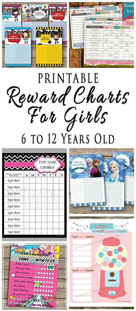printable reward charts for 9 year olds printable reward charts for kids 6 to 12 years old