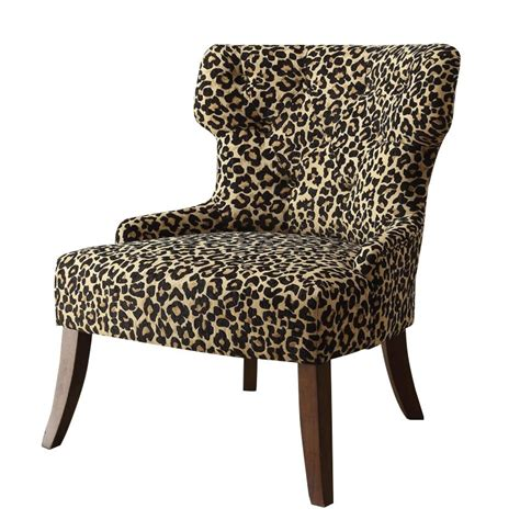 leopard accent chair acme furniture claribel fabric accent chair in leopard and
