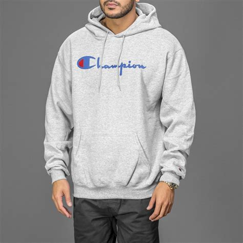 Hoodie Sweater Grey Front Logo grey chion classic pullover hoodie wehustle menswear womenswear hats mixtapes more