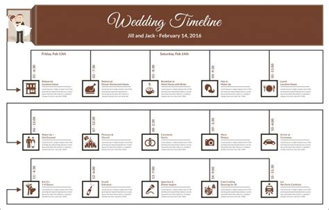 Wedding Timeline Template 42 Free Word Excel Pdf Psd Vector Format Download Free Indesign Flowchart Template