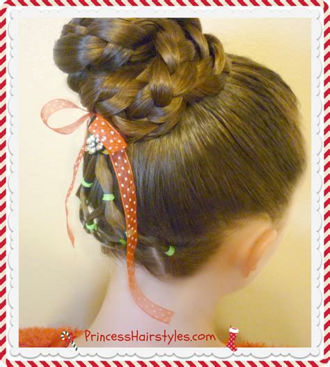 christmas tree hairstyle for girls elastic tree hairstyle bun hairstyles for princess hairstyles