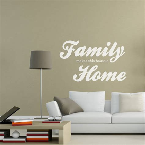 home wall stickers family home wall sticker by oakdene designs