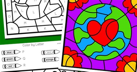 earth day colors earth day color by letter totschooling toddler
