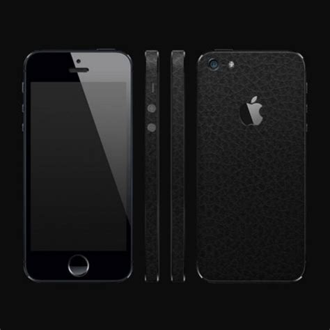 dbrand textured back frame cover skin iphone 5s 5 black leather