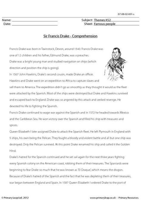 ks2 biography of winston churchill sir francis drake comprehension primaryleap co uk