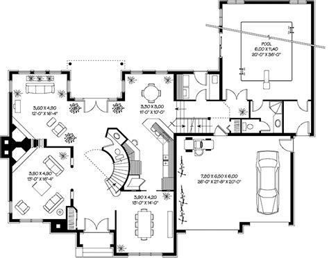House Plans With Indoor Swimming Pool by Print This Floor Plan All Plans House With Indoor Swimming