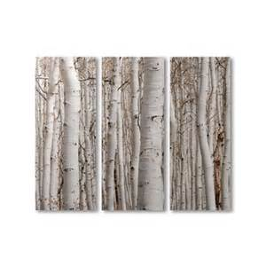 gift craft canvas print birch panels set