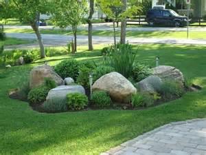 Rock Garden Bed Ideas Front Rock Garden My Gardens Gardens Circles And Backyards