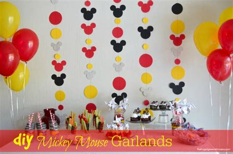 Mickey Mouse Handmade Decorations - diy mickey mouse birthday