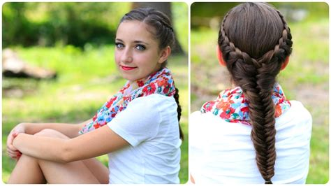 cute girl hairstyles how to how to create a laced fishtail braid cute girls hairstyles