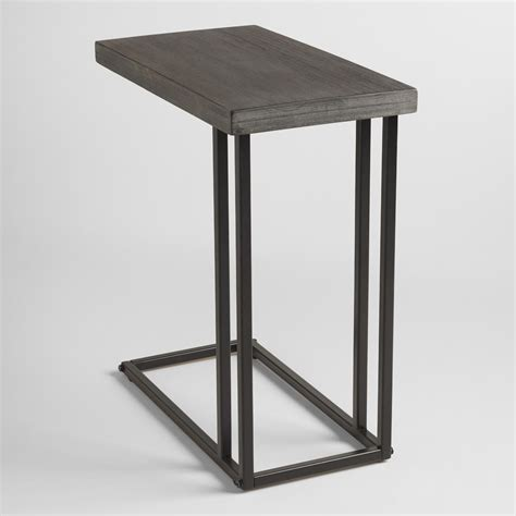 Chair Desk With Storage Bin Wood And Metal Kenway Laptop Table World Market