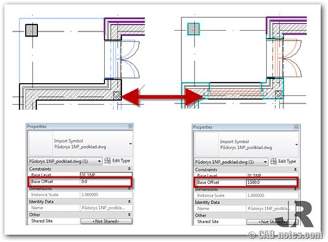 revit tutorial cad notes revit tip to control display if linked files overlap