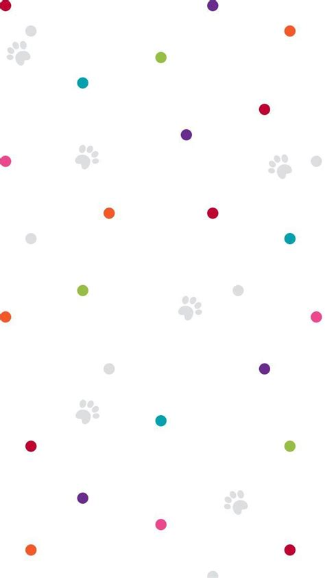 rainbow pink red blue confetti spots dots pet paw print