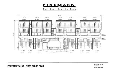 movie theatre floor plan prototype a14s first floor plan