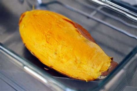 how to cook a sweet potato fast in the microwave with easy and simple step indonesian cuisine