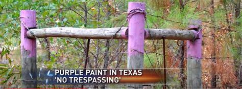 purple paint law this is what purple paint on a fence post means tiphero