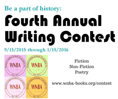 Writing Sweepstakes - wnba writing contest announcement women s national book association san francisco