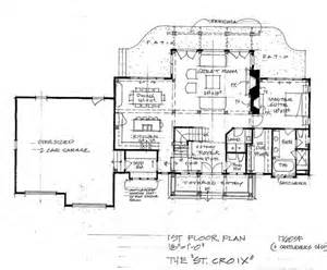 Timberframe Floor Plans by The St Croix Timber Frame Home Floor Plan Blue Ox