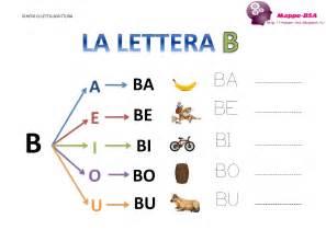 la lettera quot b quot e le sue sillabe