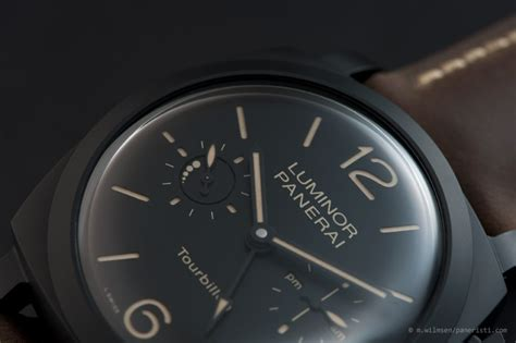 Luminor Panerai Turbilon Angka Black 1 panerai luminor submersible 1950 3 days gmt pole2pole pam00719 price