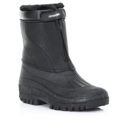 Garden Boots Mens by Mens Garden Mucker Wellies Wellington Winter Warm Waterproof Work Boot Size 6 12 Ebay