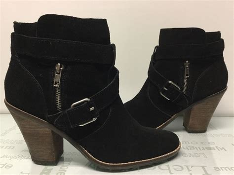 s dolce vita connary black suede ankle boots shoes