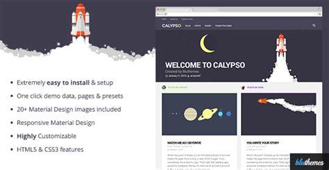 theme blog wordpress nulled plantillas wordpress calypso material design wordpress