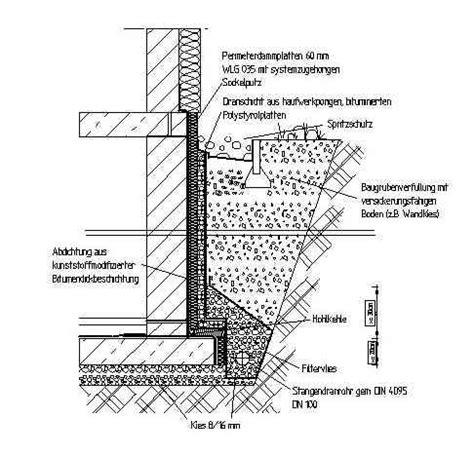 Sockel Richtig Abdichten by Fundament Bodenplatte D 228 Mmen