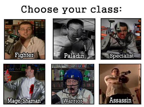 angry video game nerd  role playing game class sets