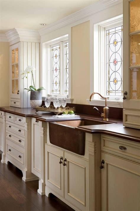 Kitchen Tile Backsplash Ideas With White Cabinets by Mahogany Kitchen Cabinets Contemporary With White Counters